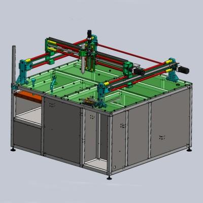 龙门式三轴模组划痕非标测试机