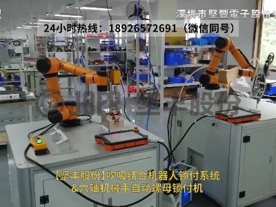 吹吸结合机器人锁付系统